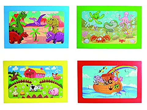 Boy Child Boys Children Noah's Ark Puzzle 15 Pieces 30 cm x 19 cm - Fantastic Christmas Xmas Top Up, Stocking Filler Gift Games & Toys Age 3+ - One