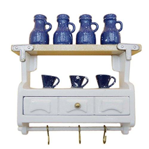 MagiDeal Miniatur Möbel Wandschrank Schrank Mit Bar Tasse Dekoration Für 1:12 Puppenhaus Puppen Küche
