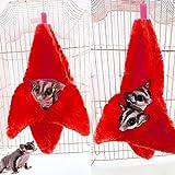 KOBWA pour Animal Domestique Hamster Lit Chaud Maison Hamac Lit Chaud Maison Nid Cage Accessoires pour Mini Animal de Petite Taille, Souris, Rat, Sucre Planeur, Chinchilla, Dwraf Hamster, Gerbille