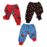 #9: Smiling Kids Unisex Cotton Hosiery Knitwear Printed Pyjama with ribs, Bottom Wear, Track Pant & Lower for Infants, Just borns and Kids, Pack of 3 for Age Group 15 to 18 Months