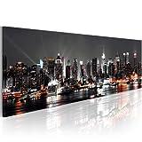 murando - Bilder 135x45 cm Vlies Leinwandbild 1 tlg Kunstdruck modern Wandbilder XXL Wanddekoration Design Wand Bild - Skyline New York NY Stadt City 030211-52