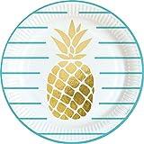 Amscan 9903307 Teller Pineapple Vibes, Mehrfarbig, 23 cm