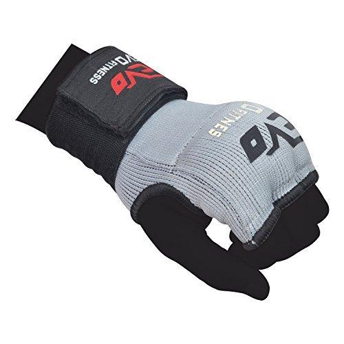 Evo Fitness Elastisch GEL Innen Handschuhe Boxen Bag Handschützer MMA Ringen UFC - L/XL-Senior (Evo Fitness)