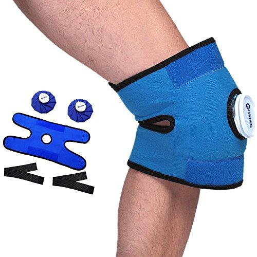 """Set mit 2 Gesundheit Wiederverwendbare heiße und kalte Eispackung Blue Ice Beutel ( 9"""") mit Klettbandumwicklung für Kopf, Rücken, Hals, Schulter, Taille, Bein, Knie, Sportverletzungen Schmerzlinderun"""