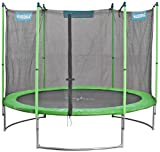 HUDORA Family Trampolin mit Sicherheitsnetz, grün/schwarz, 400 cm, 65640