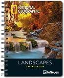 Landscapes - Buchkalender Delux 2019 - Kalenderbuch A5 - Taschenkalender - teNeues-Verlag - National Geografic - Taschenplaner mit Spiralbindung - 16,5 cm x 21,6 cm - Fotokalender