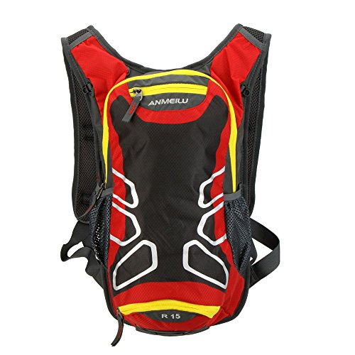 Docooler Outdoor impermeabile borsa a tracolla zaino trekking zaino da ciclismo campeggio corsa borsa acqua 15L, Red