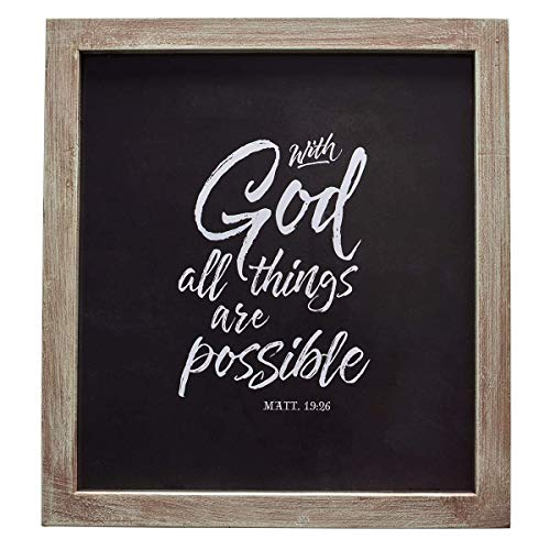 Wall Plaque All Things Are Possible