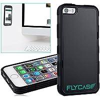 FLYCASE® [ iPhone-5 5S Anti-Gravity-Hülle ] Anti-Schwerkraft-Schutzhülle Selbstklebende Nano-Technologie | PERFEKTE PASSFORM | Goat-Case Anti-Slip Selfie-Hülle FlyCase iPhone 5