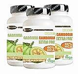 Garcinia Cambogia Extra Forte 1000 3 Confezioni 60 Compresse Bruciagrassi Favorisce la Perdita di Peso 60% di HCA Anti Fame Riduce Appetito NO Glutine 100% Naturali Vegan