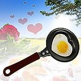 Monsterzeug Pfanne in Herzform, Mini Bratpfanne mit Herzmotiv, Kleine Herz Bratpfanne, Spiegelei Form, Liebesgeschenk