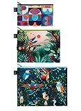 LOQI Artist Hvass&Hannibal Grid, Arbaro, Bird Zip Pockets Personalausweishülle,...