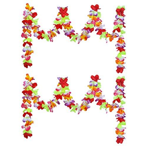 BESTOYARD 2 Stücke Hawaii Blume Girlande Hawii Party Bunte Blume Papier Kränze Sommer Urlaub Beach Party Blume Decor (3 Mt)