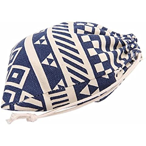 morral del lazo,Vovotrade nacional de rayas bolsa de almacenamiento - Bolsa de viaje - Bolsa de regalo (Azul, M)