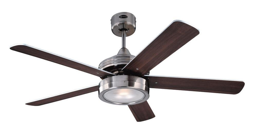 518YCxzf 7L - Westinghouse Ceiling Fans 78545 Hercules One-Light 132 cm Five-Blade Indoor Ceiling Fan, Brushed Nickel Finish