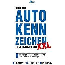 DEUTSCHE AUTOKENNZEICHEN XXL mit EU-Kennzeichen (Großdruck)