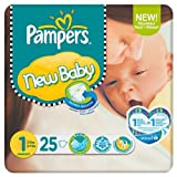 Pampers New Baby Größe 1 (2-5kg) Carry-Pack 25s 6 pack x 25 pro Packung