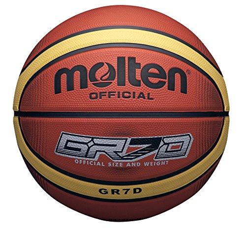 Molten 33 Libertria Deep Channel Original Basketball, Tan, Größe 7