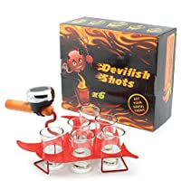 DECO EXPRESS Devilish Tray Shots Drinking Game | Fun Cocktail Serving for Women