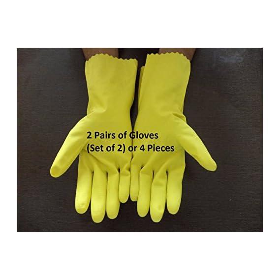 Seedstores : House Hold Multi Purpose Gloves Size Medium 2 Pair Gardening Dish Washing
