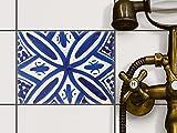 creatisto Küche Bad Fliesenaufkleber Folie Sticker | Bad-Sticker Badezimmer-Fliesen Fliesenmuster Kellerfliesen | 20x15 cm Muster Ornament Spanish Tile 7-1 Stück