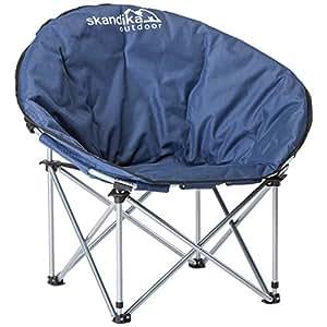 skandika Campingmöbel Pluto Stuhl, Blau, 16207