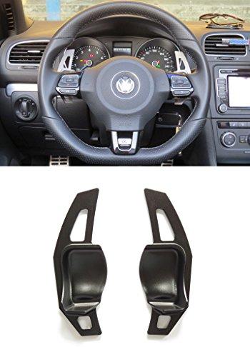 Pinalloy, estensioni per leve del cambio del volante per auto con sistema DSG. Colore: nero