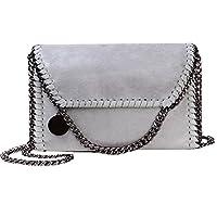 Jeune Lueur Women Flap Chain Clutch Handbags Purse Stylish Metal Chain Shoulder Crossbody Bag Light Chains