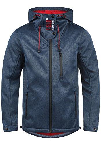 SOLID Iacopo Herren Übergangsjacke Softshell-Jacke mit Kapuze und Fleece-Innenseite aus hochwertiger Materialqualität, Größe:M, Farbe:Insignia Blue Melange (8991)