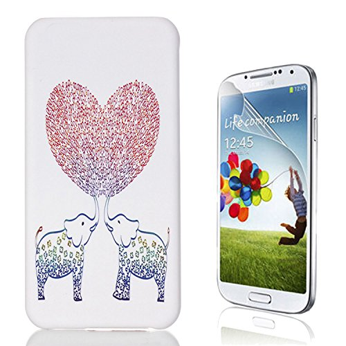 Samsung Galaxy S7 Edge Custodia, Samsung Galaxy S7 Edge Cover, Bonice Ultra Sottile PC Hard Back Antiurto Shock-Absorption Durable Case Elefante + 1x Protezione Dello Schermo Screen Protector