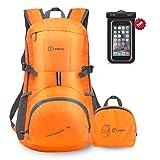 35L Ultra Zaino Leggero Idrorepellente Nylon Pieghevole Daypack per Viaggio Hiking(arancione)