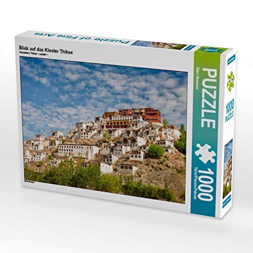 CALVENDO Puzzle Blick auf das Kloster Thikse 1000 Teile Lege-Größe 64 x 48 cm Foto-Puzzle Bild von Maro Niemann