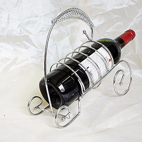 Amadoierly Wine Rack Home elegante Mode Guqin Eisen Silber Bar Geschenk (Zeitgenössische Silber Bar)