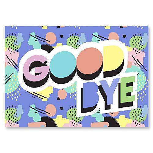 Abschiedskarte Kollegen (Groß A4 XXL Klappkarte) - Glückwunschkarte als Geschenk zur Rente oder Jobwechsel - Karte zum Abschied für Ruhestand - Grußkarte für Kollege oder Kollegin - Goodbye