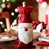 BeautyLife–1pieza de Navidad Papá Noel rojo vino cubierta de la botella bolsas de mesa de Navidad Cena Decoración Hogar Decorativos, por bei wang