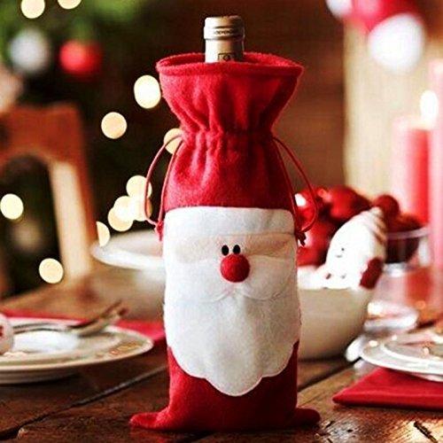 BeautyLife 1Weihnachts Santa Claus rot Wein Flasche, Staubbeutel Weihnachten Tisch Abendessen Dekoration Home Party Dekore von bei Wang