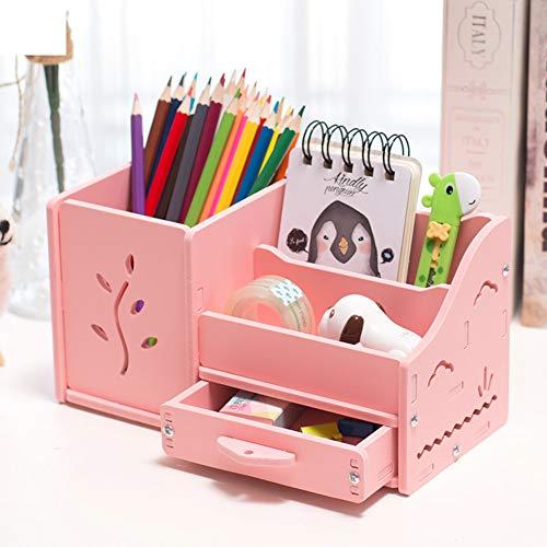 Multi-funktions Stifthalter, Kreativstift veranstalter student süße schreibwaren schreibtisch organizer büro stift bleistift halterschale-rosa Gras 22x11x12cm(9x4x5inch) (Gras Schreibtisch)