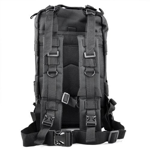 veroda 30L Assault Taktischer Militär multifunktionale Outdoor Rucksäcke Rucksack Camping Wandern Tasche schwarz - schwarz