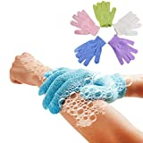TAOtTAO 5Pcs Shower Gloves Exfoliating Wash Skin Spa Bath Gloves Foam Bath Skid Resistance Body Massage Cleaning Loofah Scrubber