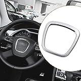Alamor Garniture d'emblème de Corps d'autocollant de Volant de Voiture d'alliage d'aluminium pour Audi A3 / A4 / A5 / Q5 / Q7
