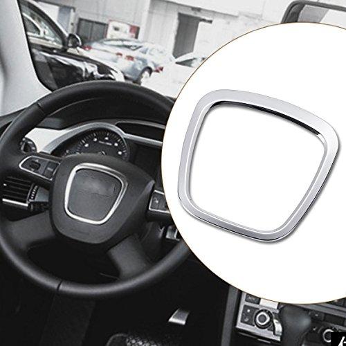 Alamor Disposizione dell'emblema del Corpo dell'autoadesivo del Volante dell'automobile della Lega di Alluminio per Audi A3 / A4 / A5 / Q5 / Q7