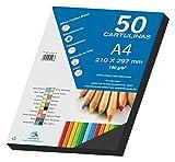 Dohe - Set Di 50 Cartoncini, Formato A4 nero
