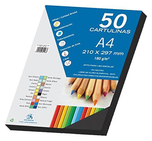 comprare on line Dohe - Set Di 50 Cartoncini, Formato A4 nero prezzo