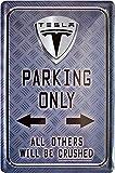 Tesla Parking Only Car Auto 20x30 cm Blechschild 840