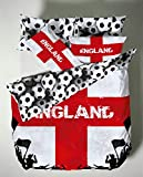 Catherine Lansfield England Duvet Set Reversible Football World Cup Quilt Cover (Single)