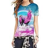 Schöne Alpaka Mädchen Stehen Auf Regenbogen Literatur Kunst T Shirts Für Teenager L
