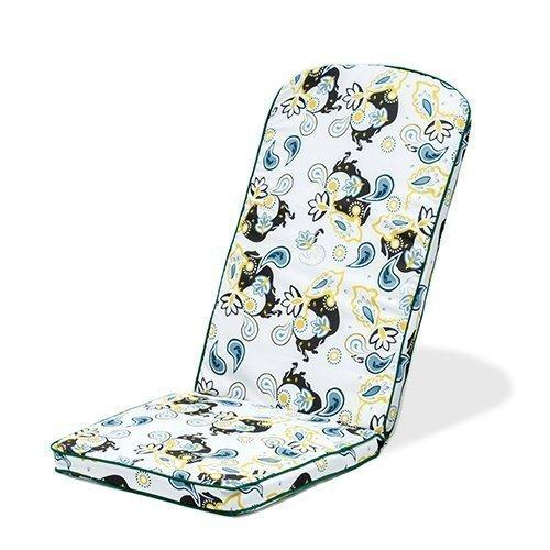 Gardenista® Gold Collection Paisley Floral Piped Edge Garden Adirondack Chair Cushion Outdoor