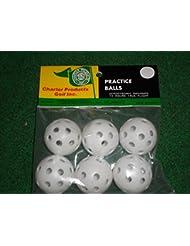Deluxe Golf pelotas de práctica 6 ct hueca Wiffle tipo nuevo