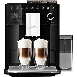 Melitta CI Touch F630-102 Kaffeevollautomat mit Milchbehälter   Flüsterleises Mahlwerk   One Touch Funktion   10 Kaffeevariationen   TFT-Farbdisplay   Schwarz