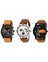 Codice Multicolor Dial Analog Watches For Men Combo Of 3 - CDC-4569